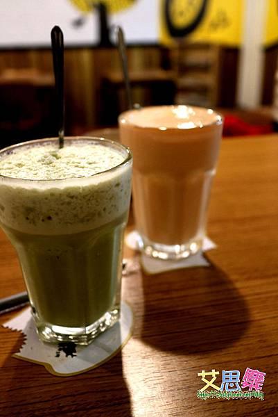 木瓜牛奶與宇治抹茶歐蕾.JPG