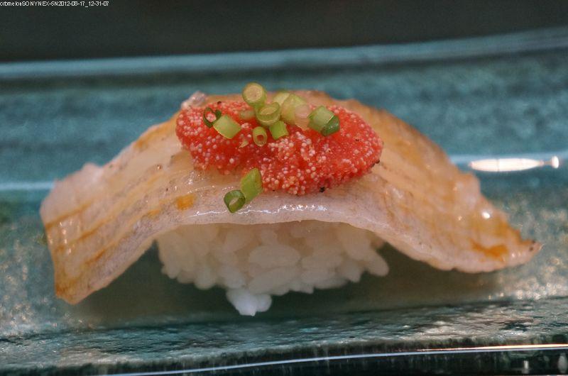 比目魚緣側握壽司