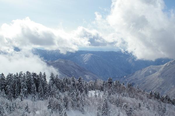 西穗高岳望他山1