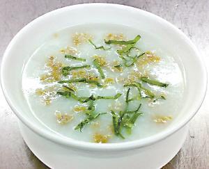 荷葉煮米粥