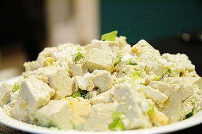 扁豆拌豆腐