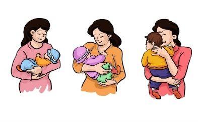 寶寶抱姿三部曲:橫、斜、豎
