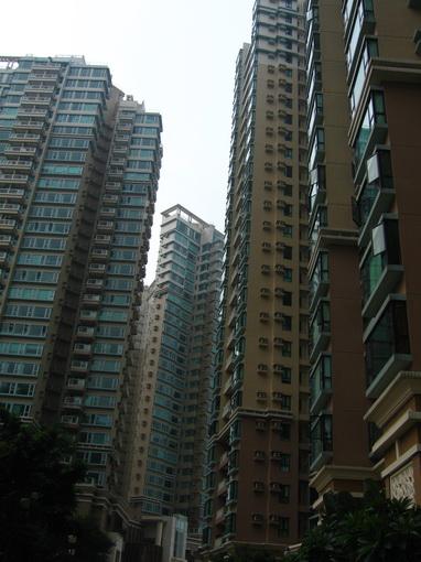 高密度高樓的住宅區