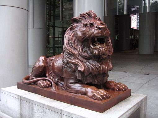 [917-中環]匯豐銀行總部前面的獅子