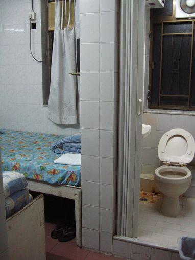 [20090103]香港招待所雙人床房間衛浴間