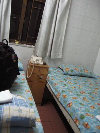 [20090103]香港招待所香港招待所雙人床房間