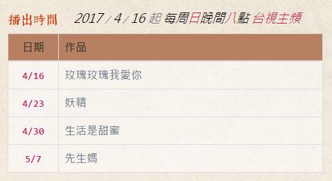 《閱讀時光II》各集播出日期時間.PNG