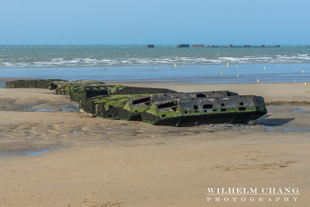 黃金海灘與桑葚人工港 Gold Beach and Mulberry Harbour