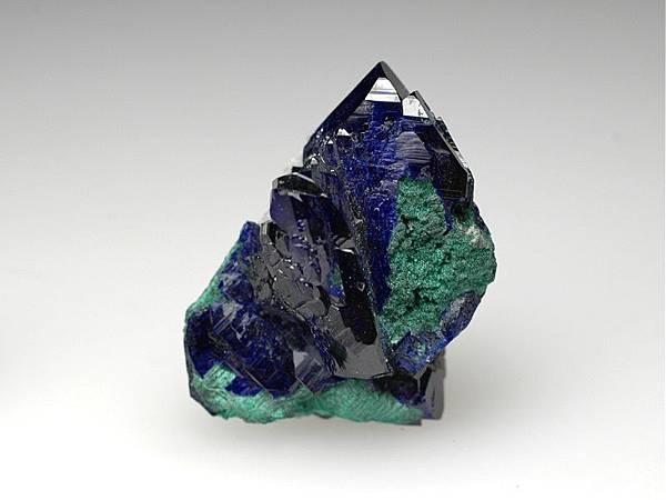 藍銅礦與孔雀石共生
