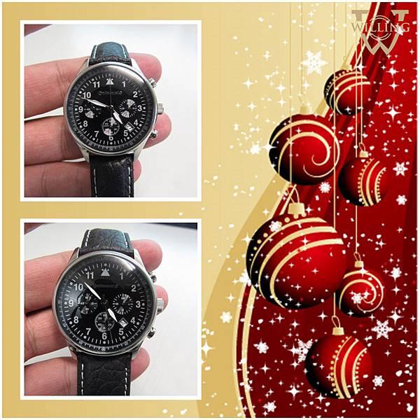 聖誕禮物-運動三環計時手錶