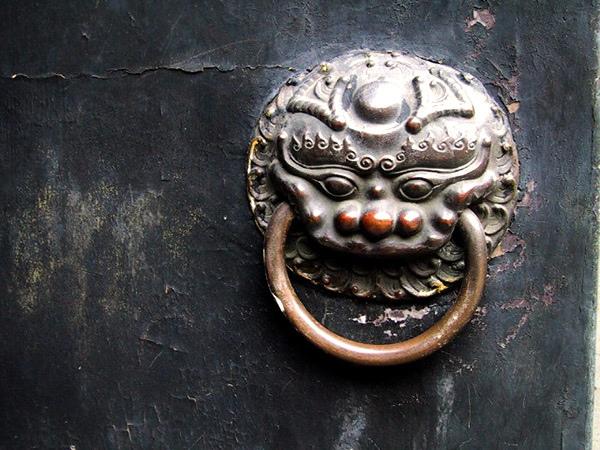 沈廳老宅的門環