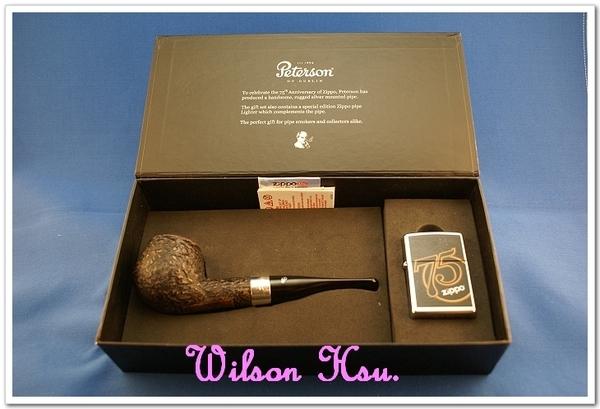 ZIPPO 與 PETERSON 合出的75週年菸斗禮盒組