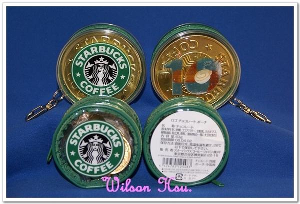 星巴克十週年巧克力金幣零錢包&日本情人節金幣零錢包