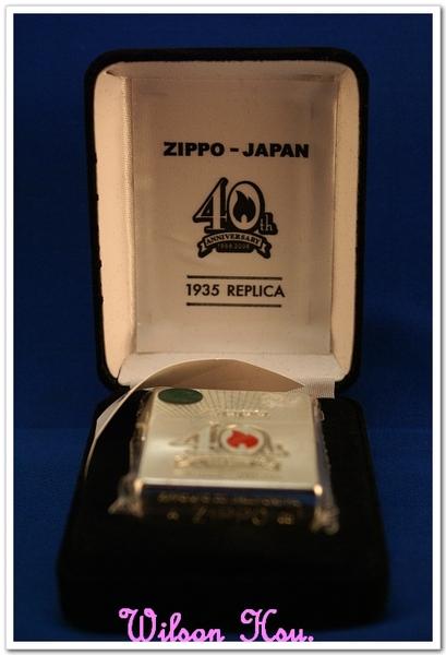 ZIPPO 日本上陸40周年紀念機