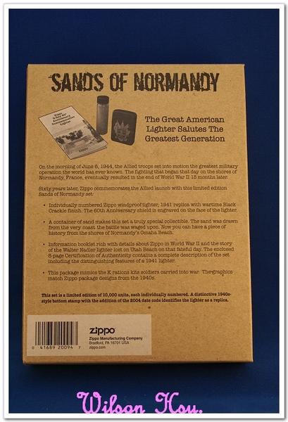 ZIPPO SANDS OF NORMANDY 諾曼第D-Day 60週年紀念限量收藏版
