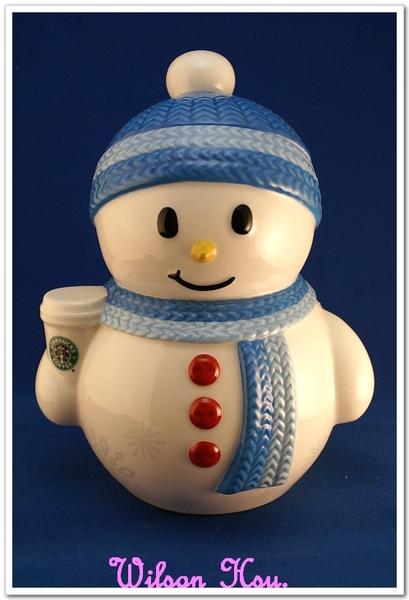 2008感恩回饋日所購物品-雪人造型儲物罐(藍)