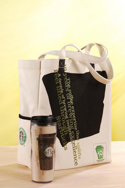 香港十週年紀念環保袋 & 16oz.隨行杯