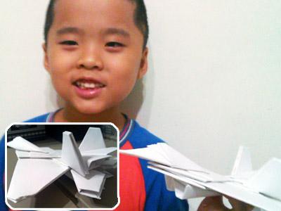 20120731只是碎碎唸 摺出『一台』紙飛機