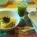 喫茶趣07-前菜-碧螺春淮山芙蓉和抹茶蜂蜜醋飲