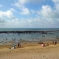 改建後的富基魚港16淺水灣玩沙戲水
