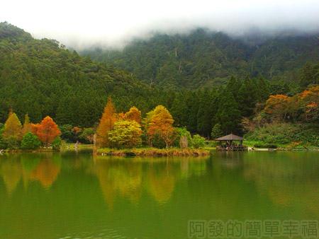 北橫明池賞楓01雲霧瀰漫的山嵐與明池楓情