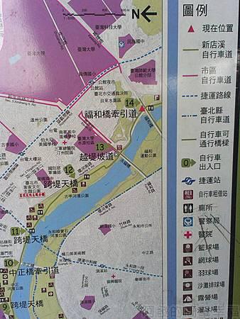 古亭河濱公園12自行車道地圖