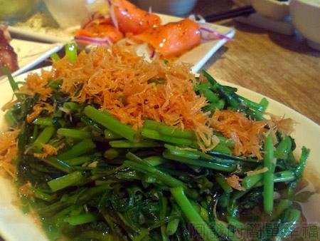 淡水-紅樓中餐廳20干貝蝦醬空心菜.jpg
