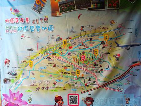 桃園觀音-向陽農場02桃園蓮花季導覽圖