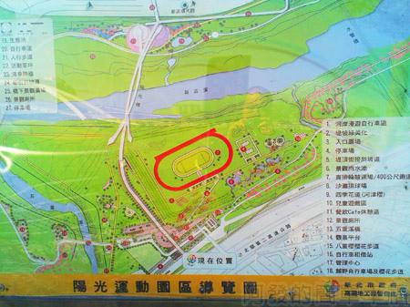 新店陽光運動園區04陽光運動園區導覽圖
