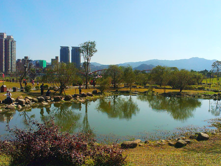 新店陽光運動園區21景觀雨水池