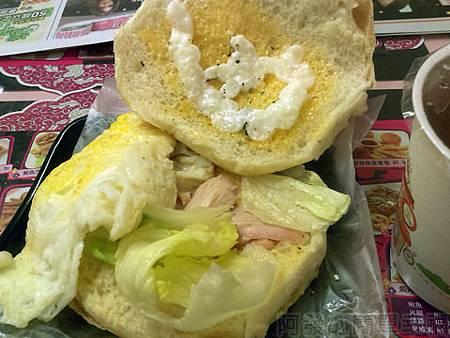中和-甜心漢堡13-今日特餐-煙燻雞絲蛋堡