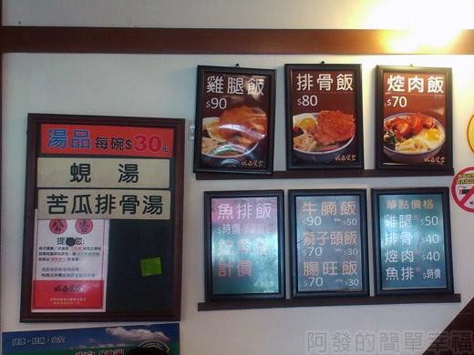 板橋-成昌食堂II-05-便當類價目表
