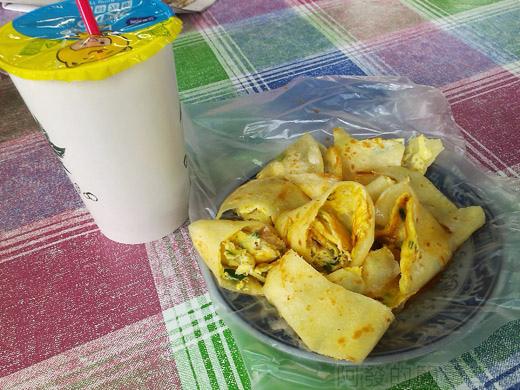 板橋-四海豆漿大王09豆漿和鴨蛋蛋餅