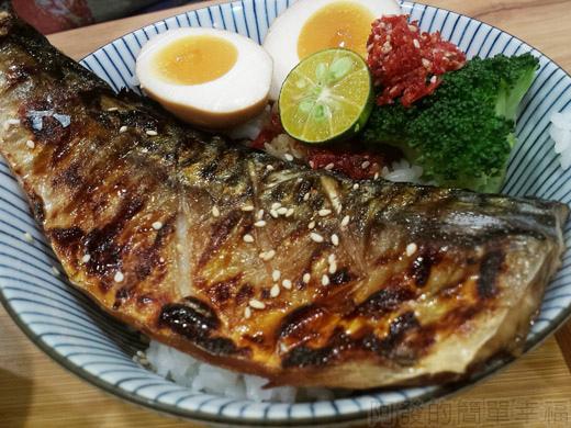 內湖-開丼燒肉vs丼飯13鹽烤鯖魚丼特寫