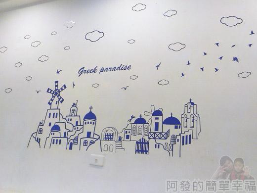 板橋-YUMMY雅米早午餐07-牆上地中海風繪畫
