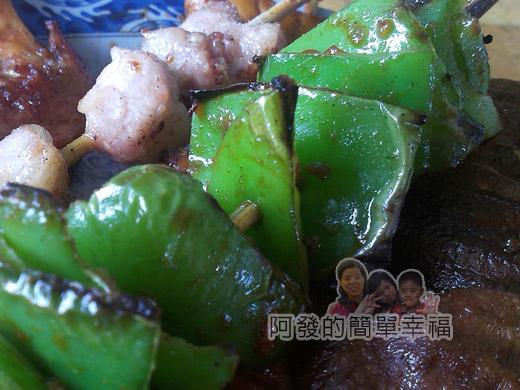 壯圍-嘉澎碳烤17青椒和松板肉串