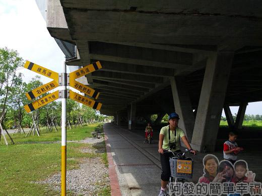 冬山河自行車專用道24高架車站下