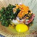 DIY台味漢堡肉排03九層塔蛋肉排