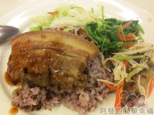 冬山-米食小館14-東坡肉片飯