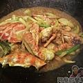 咖哩螃蟹10-拌炒收乾