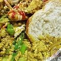 咖哩螃蟹15法國吐司沾咖哩螃蟹
