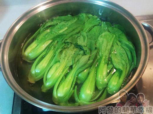 DIY東坡肉17-燙青江菜