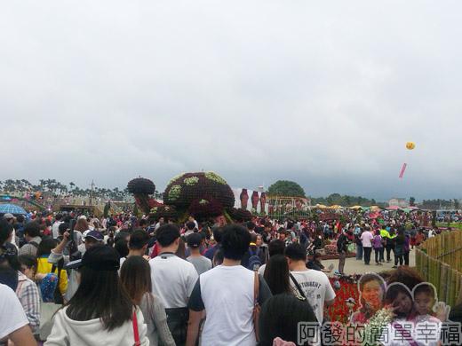 2014台中國際花毯節03-人潮