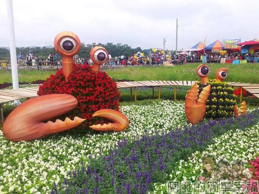 2014台中國際花毯節10-高美棧道-花蟹