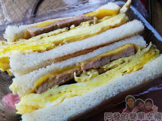 新莊-早鳥吐司10-肉蛋起司三明治