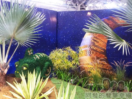 臺北花卉裝置藝術設計大展34-沙漠綠洲-來自杜拜的明信片-聆聽沙漠夜語呢喃