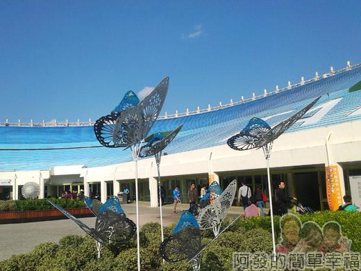臺北花卉裝置藝術設計大展06-爭豔館入口旁戶外裝置藝術