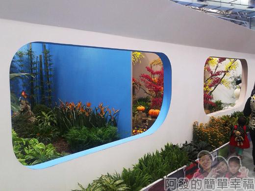 臺北花卉裝置藝術設計大展15-出發!跟著花去旅行-機艙窗外