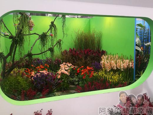 臺北花卉裝置藝術設計大展17-出發!跟著花去旅行-機艙窗-春