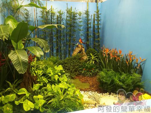 臺北花卉裝置藝術設計大展18-出發!跟著花去旅行-機艙窗外-夏